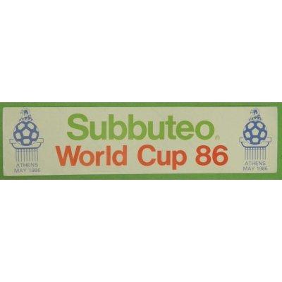Sticker : WORLD CUP 86